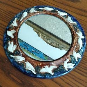 🧚Bryn melyn porcelain mirror with birds
